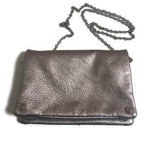 Kimici Blue Gold evening bag w/silver chain